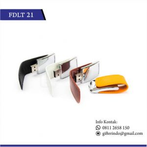 Flashdisk Kulit Metal