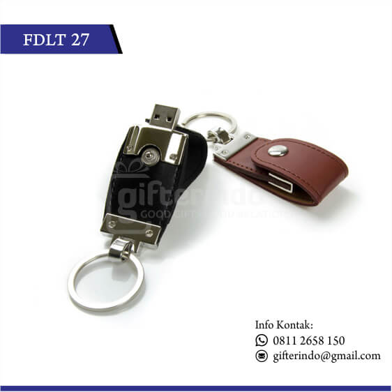 FDLT27 Flashdisk Kulit Gantungan Kunci