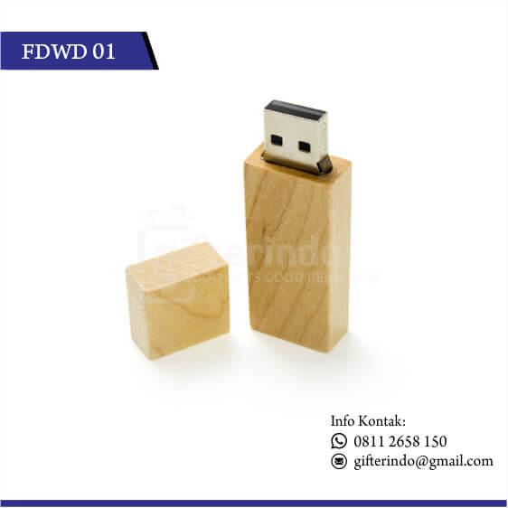 FDWD01 Flashdisk Kayu Custom Grafir Logo
