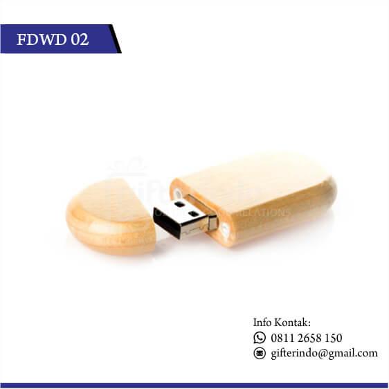 FDWD02 Flashdisk Kayu Custom Logo
