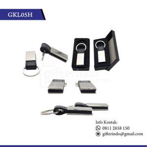 GKL05H Gantungan Kunci Kulit Metal Custom