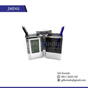 JMD02 Jam Meja Pen Holder