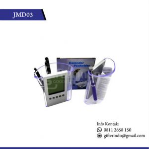 JMD03 Jam Meja Pen Holder dan Kalender