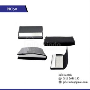 NC50 Office Suplies Name Card Holder Kulit tempat kartu nama
