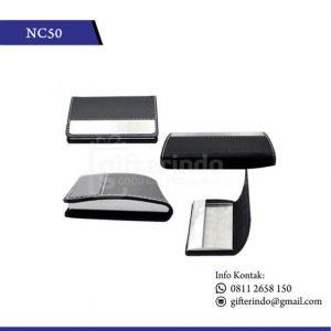 NC50 Office Suplies Name Card Holder Kulit tempat kartu nama