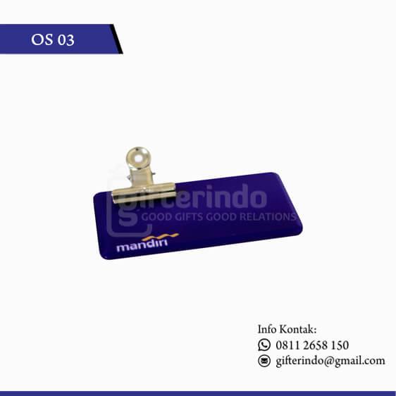 OS03 Name Tag Bank Mandiri