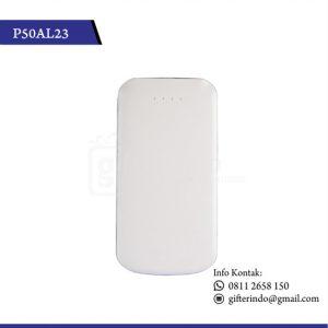 P50AL23 Powerbank Custom Putih
