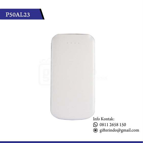 P50AL23 Powerbank Custom Putih