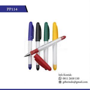 PP114 Pulpen Promosi Plastik