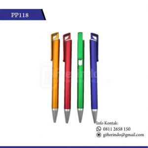 PP118 Pulpen Promosi Jepit