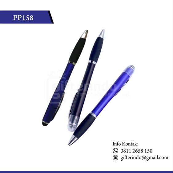 PP158 Pulpen Promosi Plastik LED