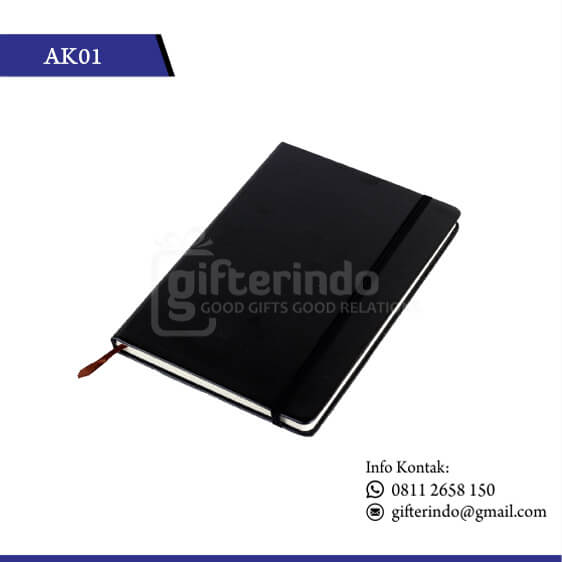 AK01 Office Suplies Booknote Hitam