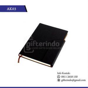 AK03 Office Suplies Booknote Hitam Magnet