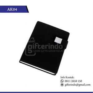 AK04 Office Suplies Booknote Hitam Magnet