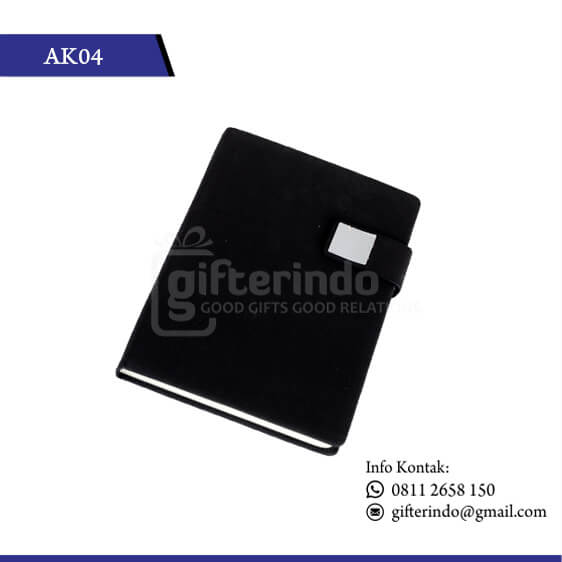 AK04 Office Suplies Booknote Hitam Magnet
