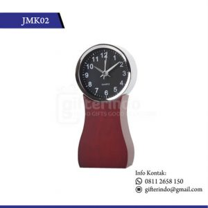 JMK02 Desk Clock Kayu Coklat