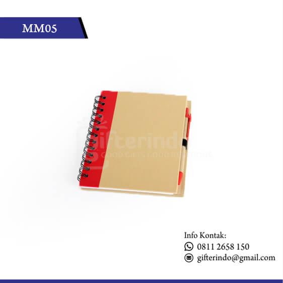 MM05 Office Suplies Memo Book Merah