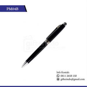 PM04B Pulpen Promosi Touchscreen Hitam