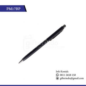 PM17BP Pulpen Promosi Touchscreen Hitam