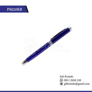 PM20RB Pulpen Promosi Biru Print Logo