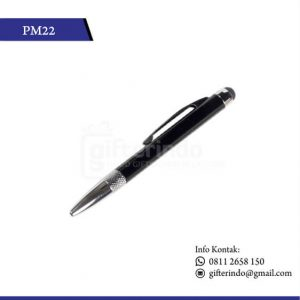 PM22 Pulpen Promosi Touchscreen Hitam