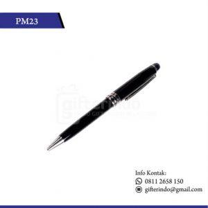 PM23 Pulpen Promosi Pointer Hitam Print Logo