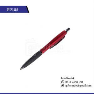 Pulpen Promosi Merah Print Logo