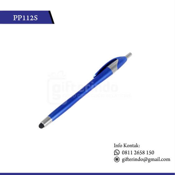 Pulpen Promosi Touchscreen Biru