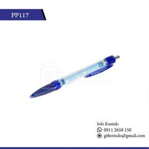 pulpen promosi plastik biru