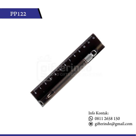 PP122 Pulpen Promosi Touchscreen dan Penggaris