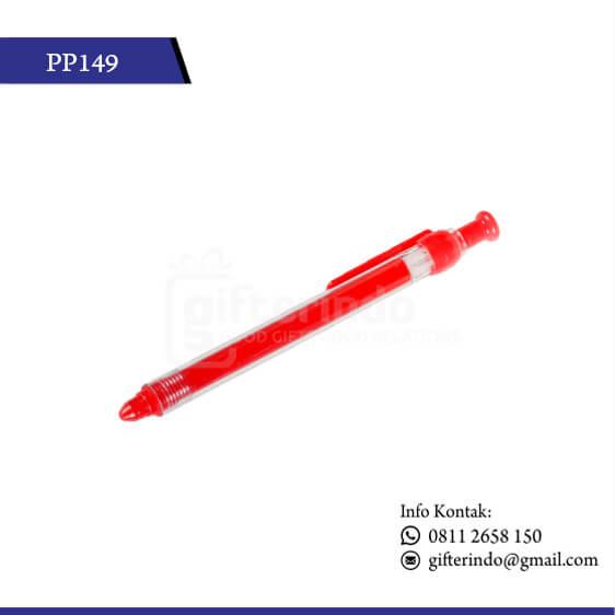 pulpen promosi plastik merah
