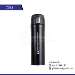 TS15 Drinkware Stenlis Hitam Print Logo