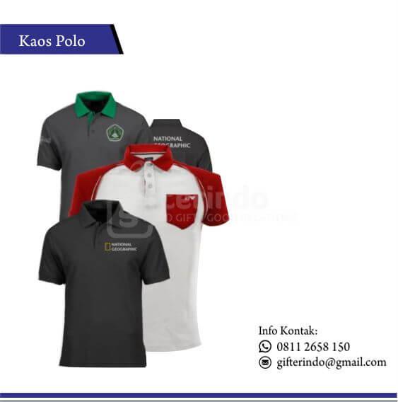 KP 01 - Kaos Polo Sablon Lengan Pendek