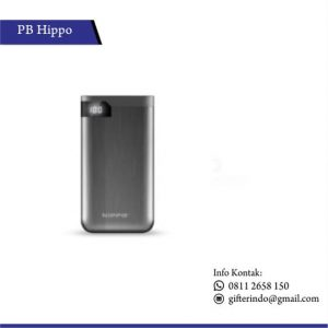 PBH14 - Powerbank Hippo Hiro LED Silver