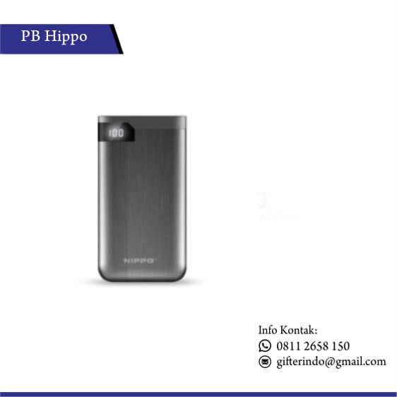 PBH14 - Powerbank Hippo Hiro LED Silver