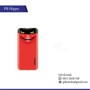 PBH9 - Powerbank Hippo Eyes Cute Red