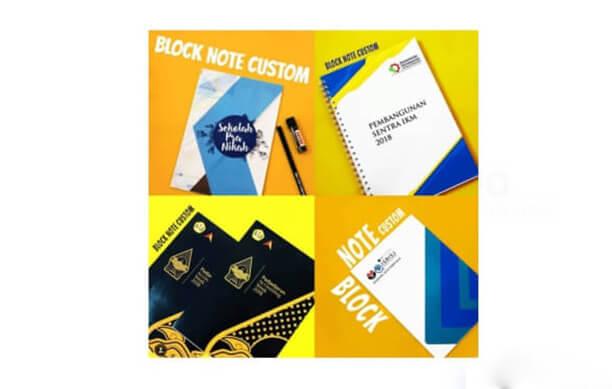 Desain Blocknote Custom