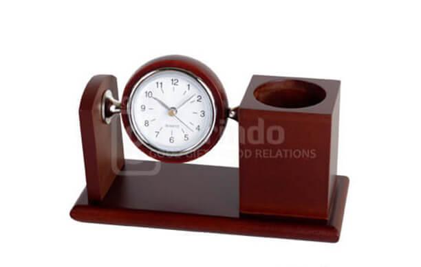 Desk Clock Kayu jam meja